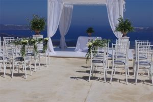 mały ślub santorini
