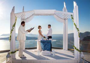 Miejsca na wesela w Santorini